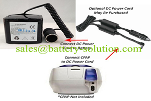 custom li-ion medical cpap battery for Resmed CPAP Devices